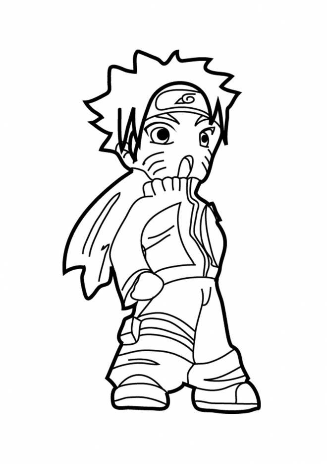 Coloriage Naruto Uzumaki Prêt Au Combat Dessin Gratuit À destiné Coloriage Sasuke Gratuit A Imprimer