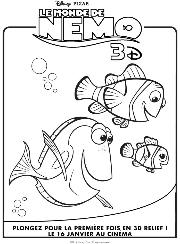 Coloriage Nemo À Imprimer | My Blog destiné Coloriage Nemo A Imprimer Gratuit