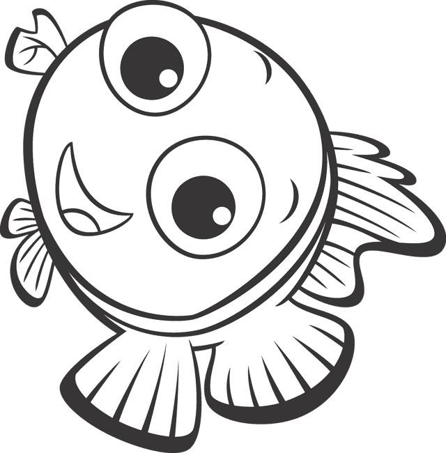 Coloriage Nemo Sourit Dessin Gratuit À Imprimer serapportantà Coloriage Nemo A Imprimer Gratuit