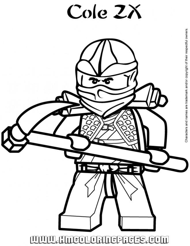 Coloriage Ninjago Cole Zx Dessin Gratuit À Imprimer destiné Coloriage Ninjago