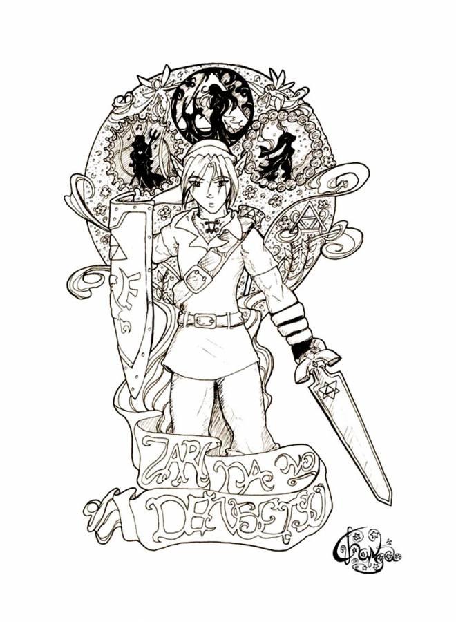 Coloriage Nintendo Link Dans Zelda Dessin Gratuit À Imprimer destiné Coloriage Zelda Twilight Princess