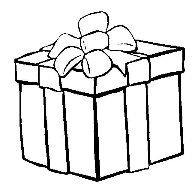Coloriage Noël : Cadeau 13 dedans Dessin Cadeau De Noel