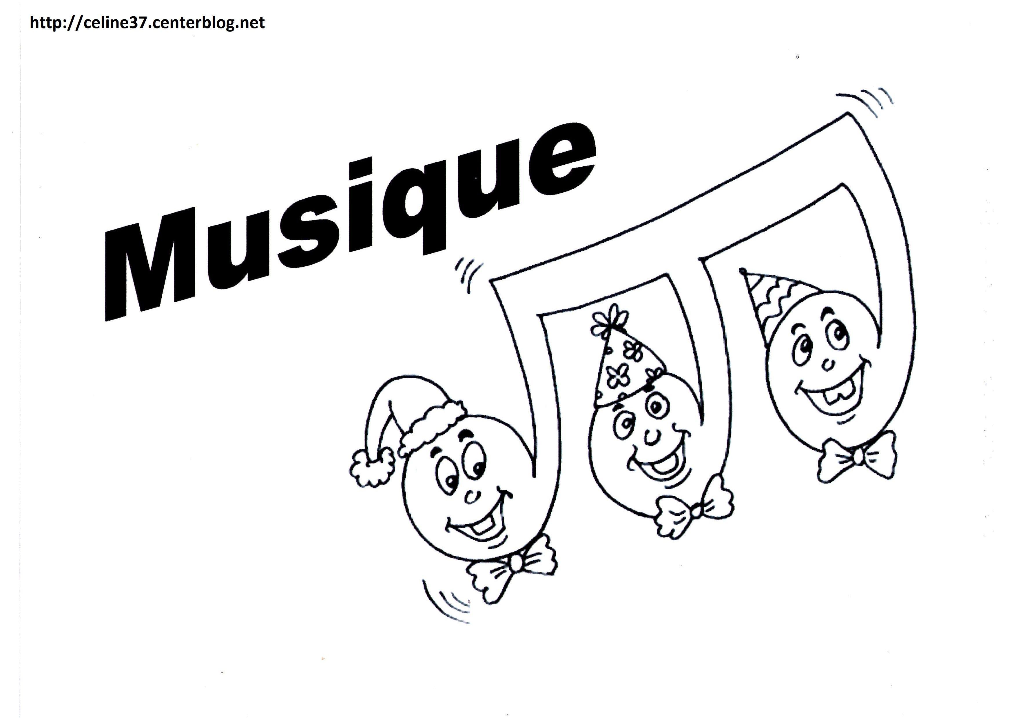Coloriage Note De Musique dedans Coloriage Instrument De Musique