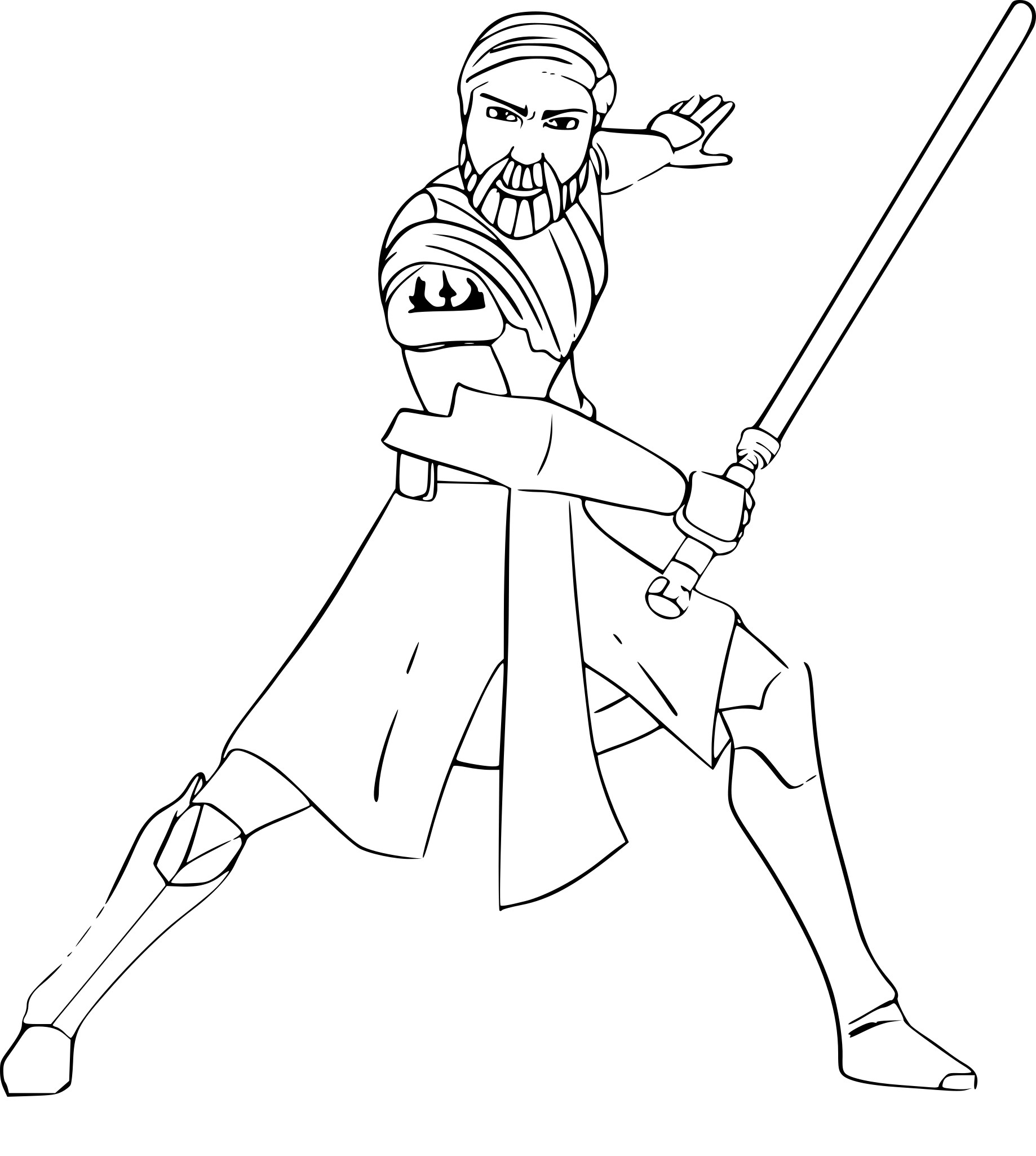 Coloriage Obi Wan Kenobi À Imprimer Sur Coloriages serapportantà Coloriage Star Wars