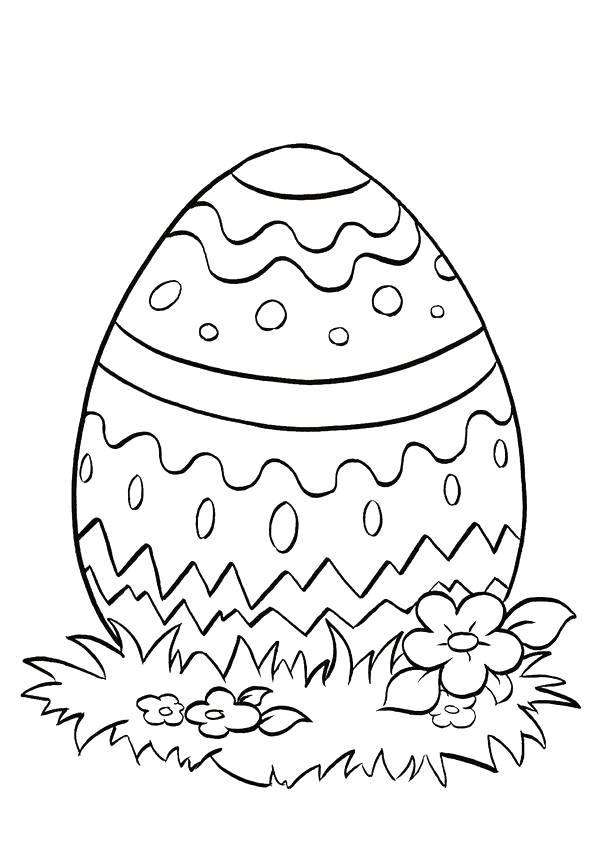 Coloriage Oeuf De Pâques Simple Dessin Gratuit À Imprimer destiné Oeufs De Paques Coloriage A Imprimer