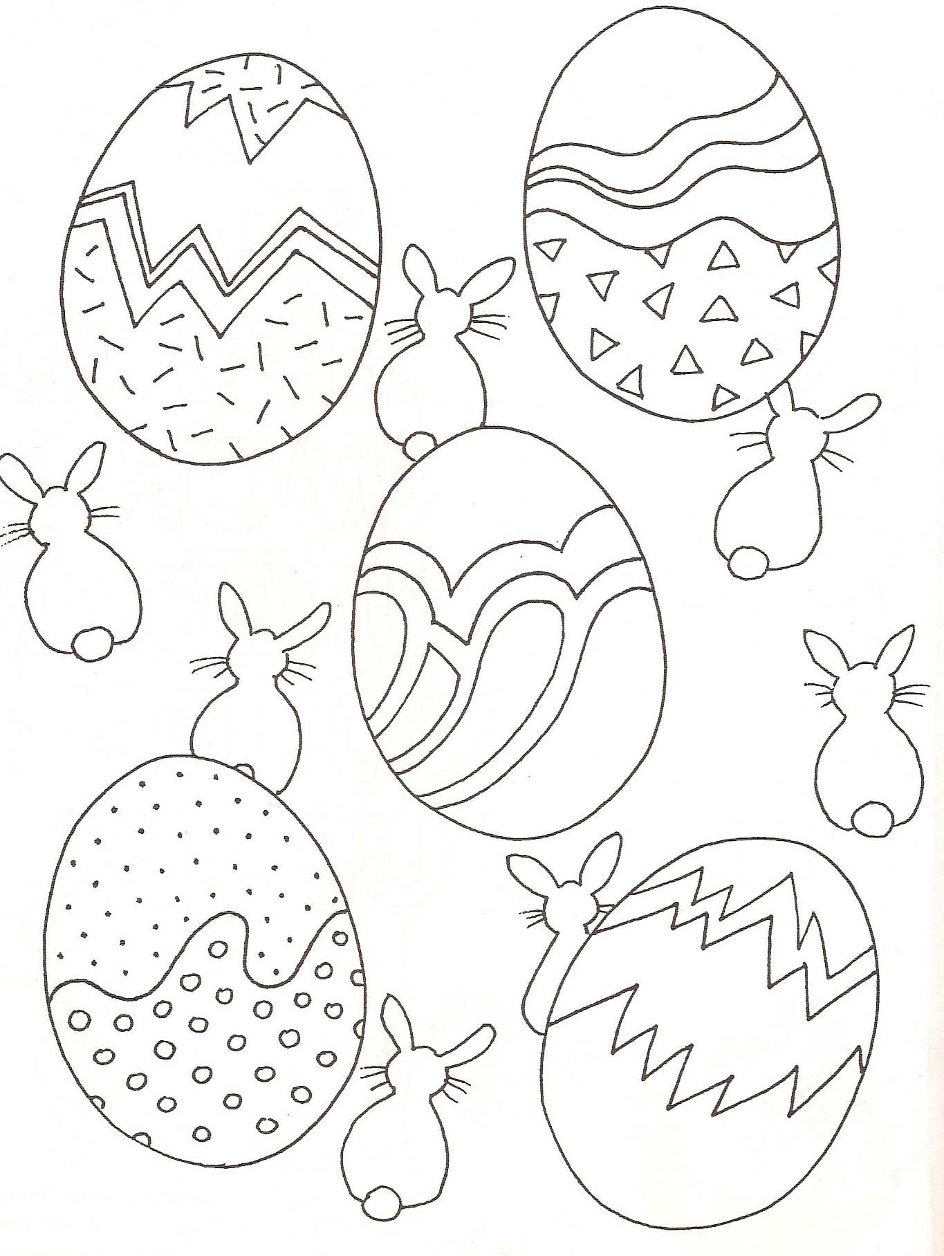 Coloriage Oeufs De Pâques avec Dessin De Paque