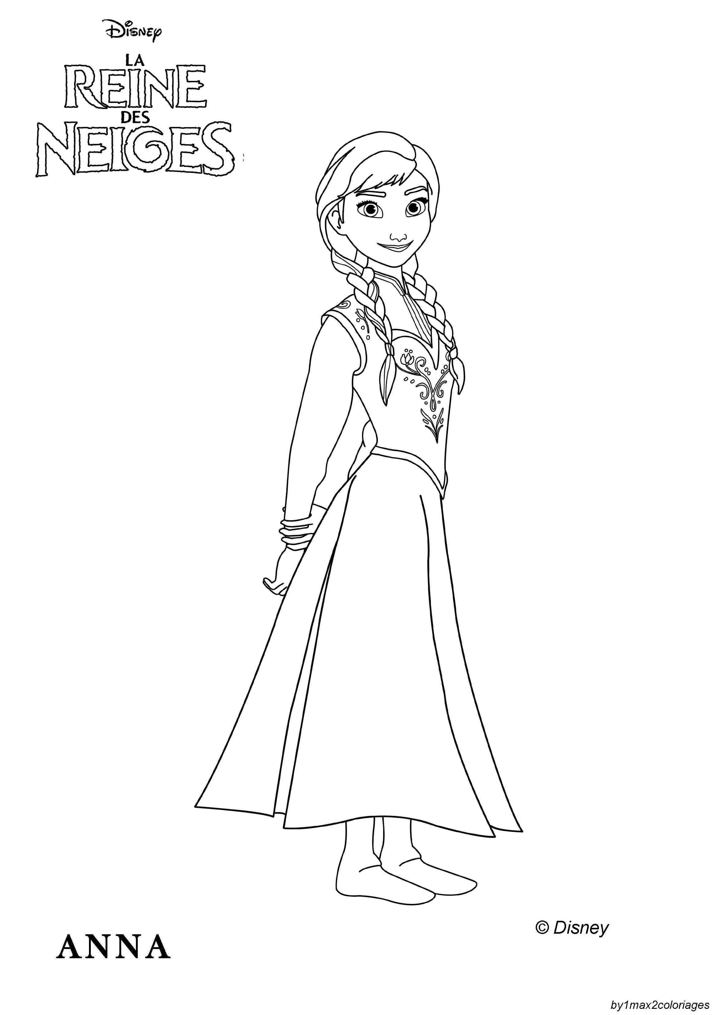 Coloriage Officiel De La Reine Des Neiges- Elsa A Imprimer dedans Coloriage Reine Des Neiges À Imprimer Gratuit