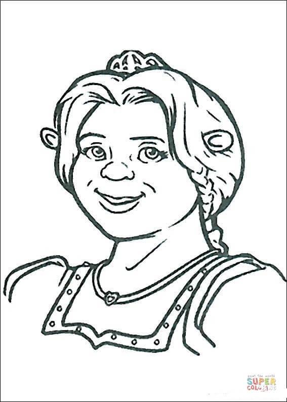 Coloriage - Ogresse Fiona | Coloriages À Imprimer Gratuits à Coloriage Shrek Et Fiona