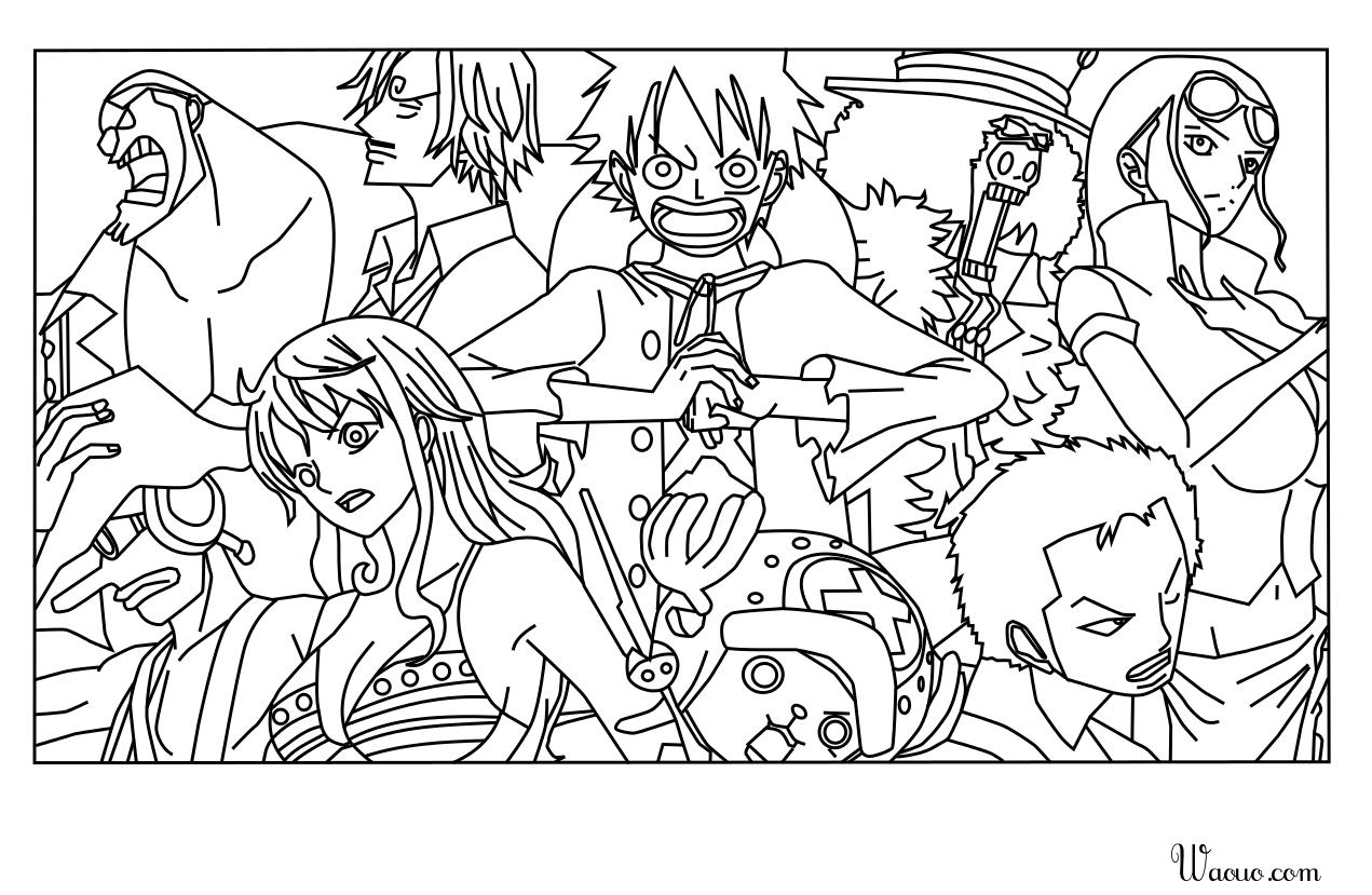 Coloriage One Piece À Imprimer Et Colorier destiné Coloriage One Piece Luffy