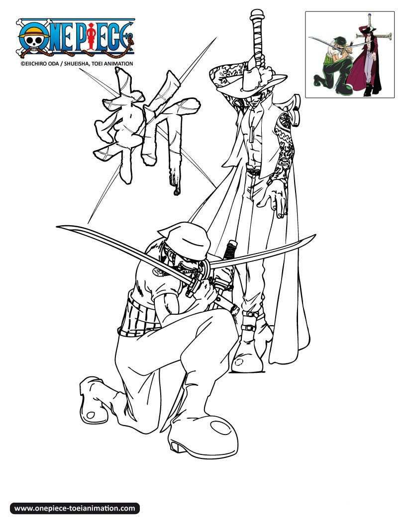 Coloriage One Piece A Imprimer Zoro   Coloriage, Dessin pour Coloriage One Piece Luffy