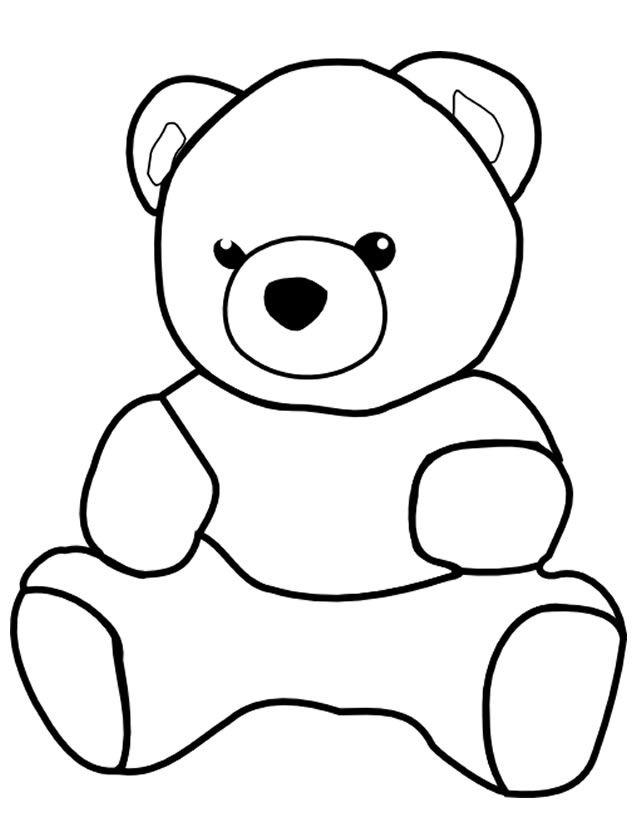Coloriage Ourson | Coloriage Ourson, Ours À Colorier dedans Nounours À Colorier