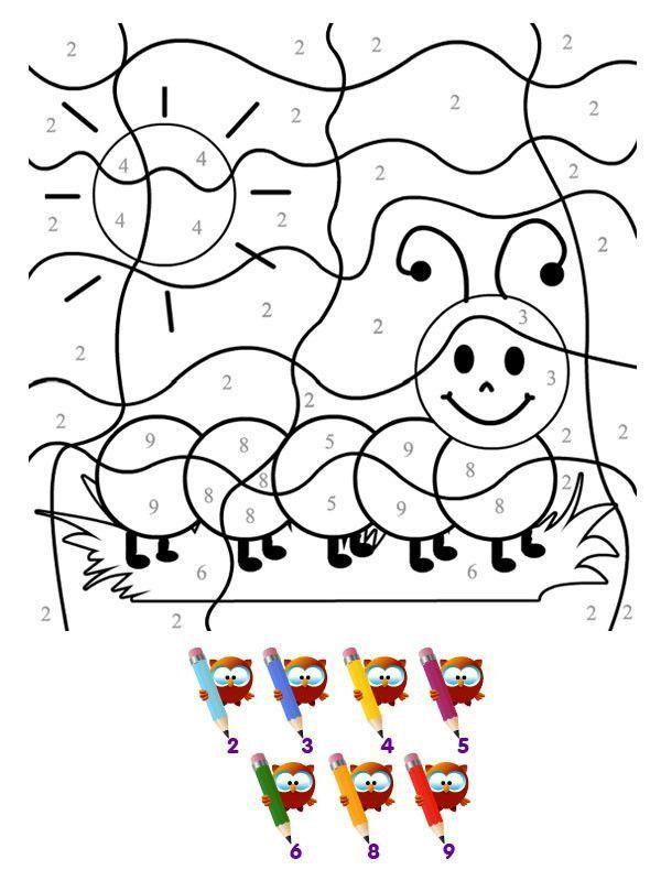 Coloriage - Page 2 encequiconcerne Dessin De Chenille