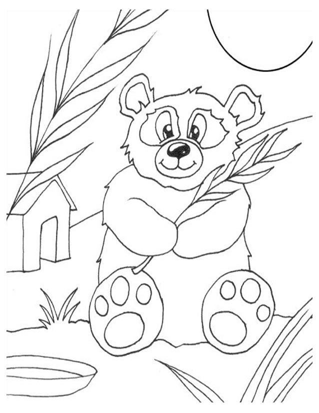Coloriage Panda À Imprimer Gratuitement avec Panda A Colorier