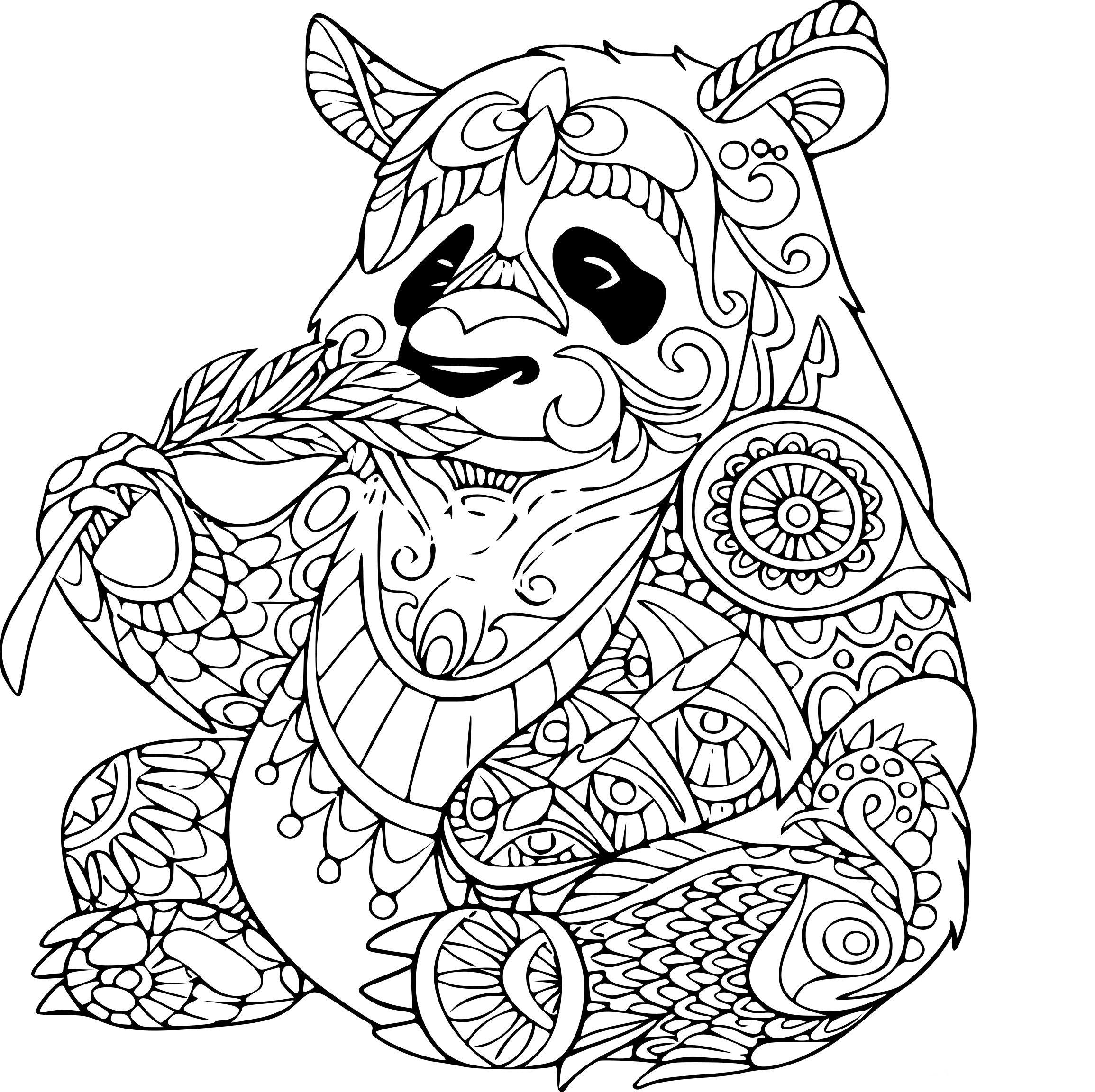 Coloriage Panda Mandala | Coloriage Mandala Animaux concernant Mandala Animaux À Imprimer Gratuit