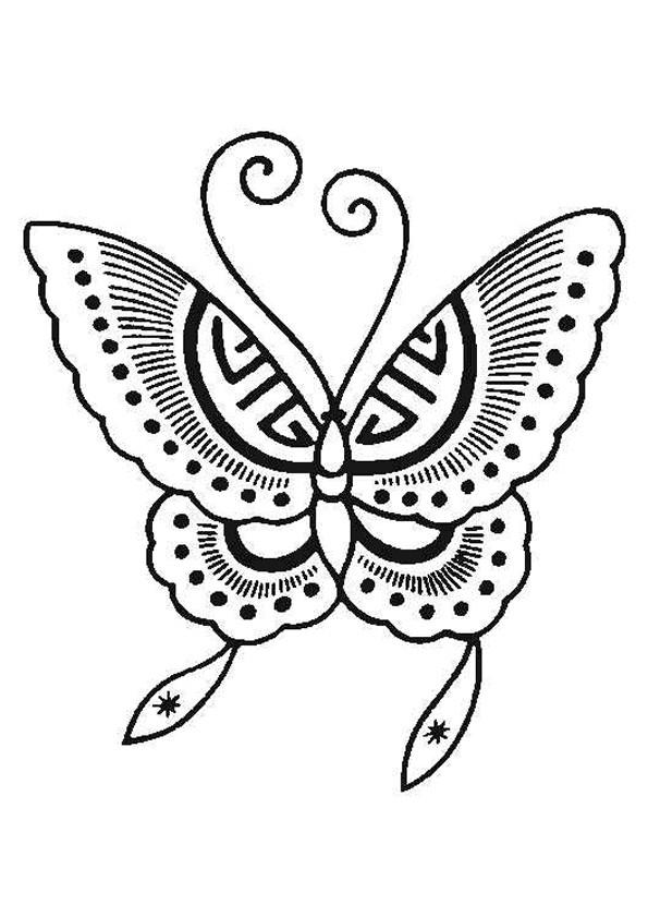 Coloriage Papillon À Découper Dessin Gratuit À Imprimer concernant Papillon Dessin Facile