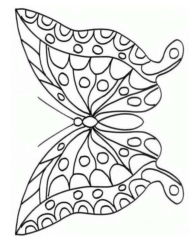 Coloriage Papillon À Imprimer Gratuitement intérieur Coloriage Zebre A Imprimer Gratuit