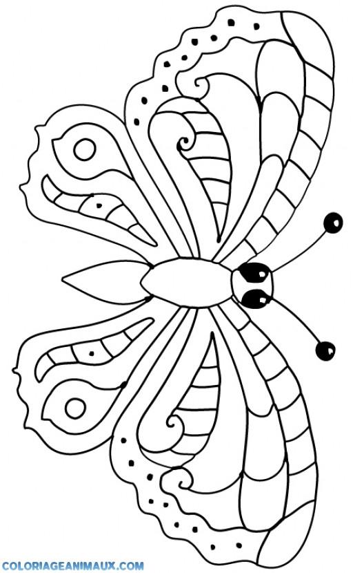 Coloriage Papillon Simple Dessin Gratuit À Imprimer serapportantà Dessin Orchidée À Imprimer