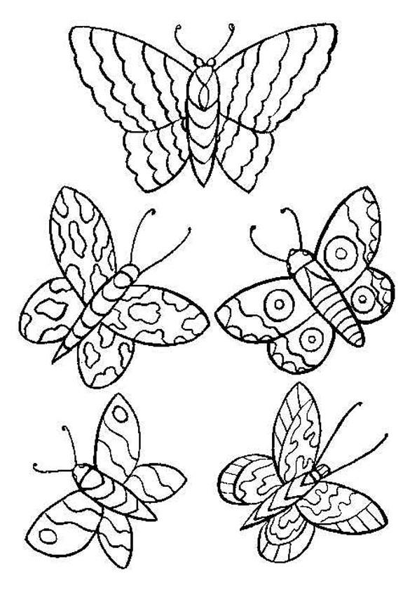 Coloriage Papillons Stylisés Dessin Gratuit À Imprimer intérieur Coloriage De Papillon A Imprimer Gratuit