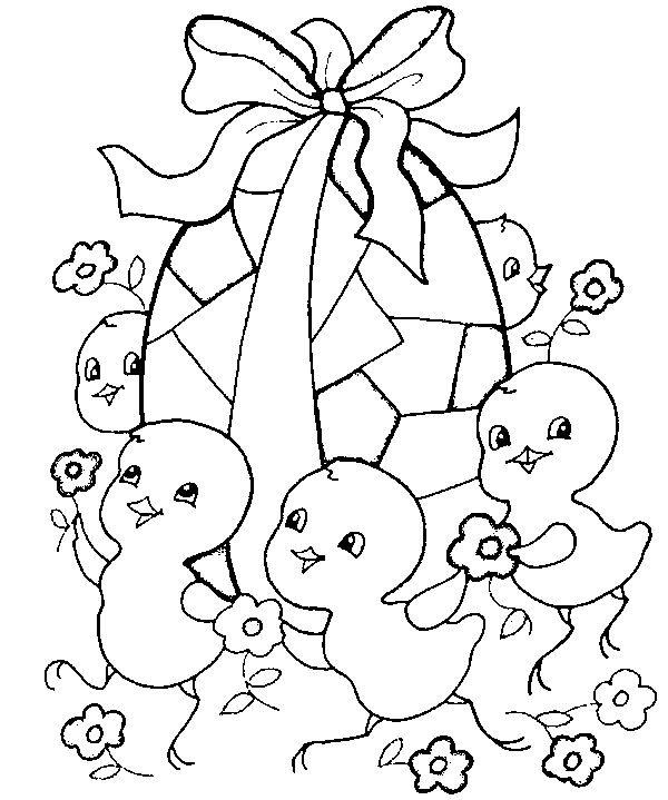 Coloriage Pâques À Colorier - Dessin À Imprimer | Easter destiné Coloriage Paques Gratuit A Imprimer