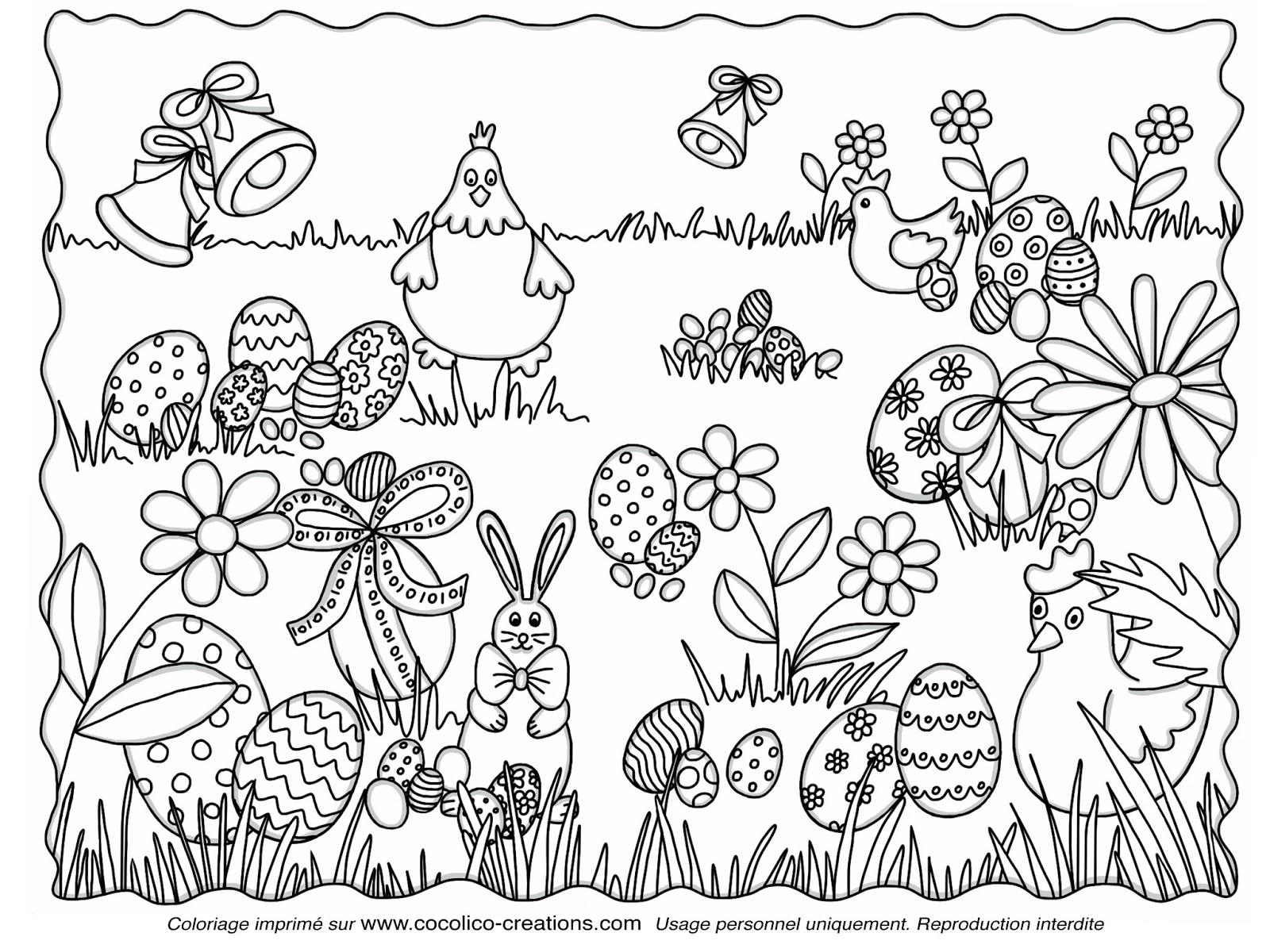 Coloriage Paques A Imprimer   Liberate dedans Oeufs De Paques À Colorier