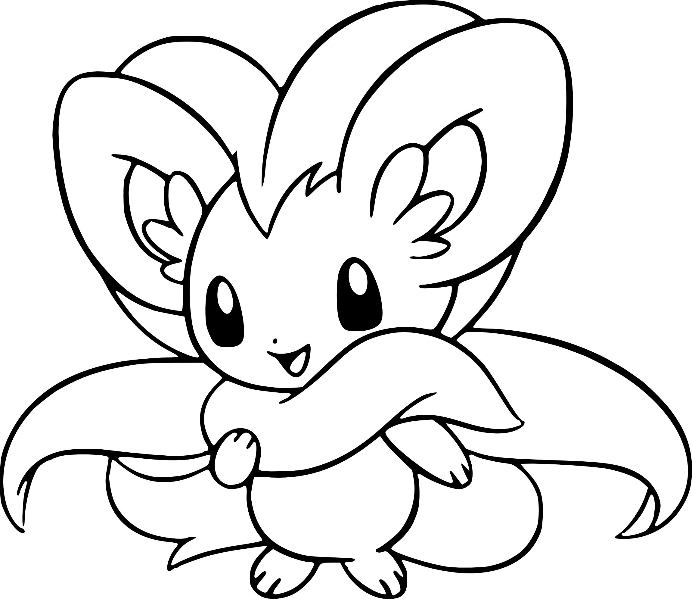 Coloriage Pashmilla Pokemon À Imprimer à Dessin Pokemon Gratuit A Imprimer