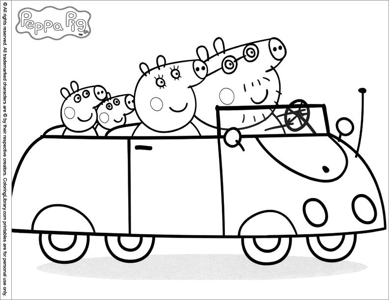 Coloriage Peppa Pig À Imprimer Pour Les Enfants - Cp20545 tout Jeux Peppa Pig Gratuit