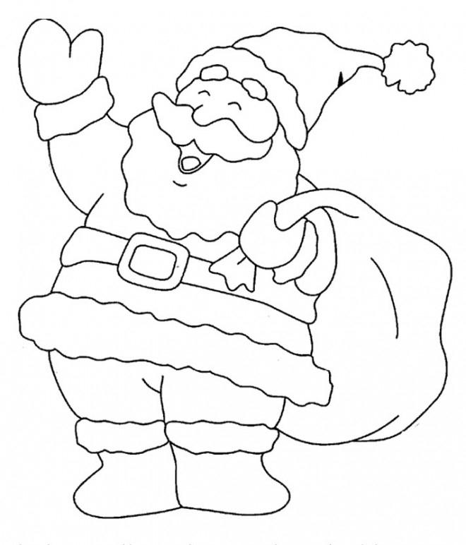 Coloriage Père Noël Te Salue Dessin Gratuit À Imprimer encequiconcerne Imprimer Dessin Pere Noel Gratuit
