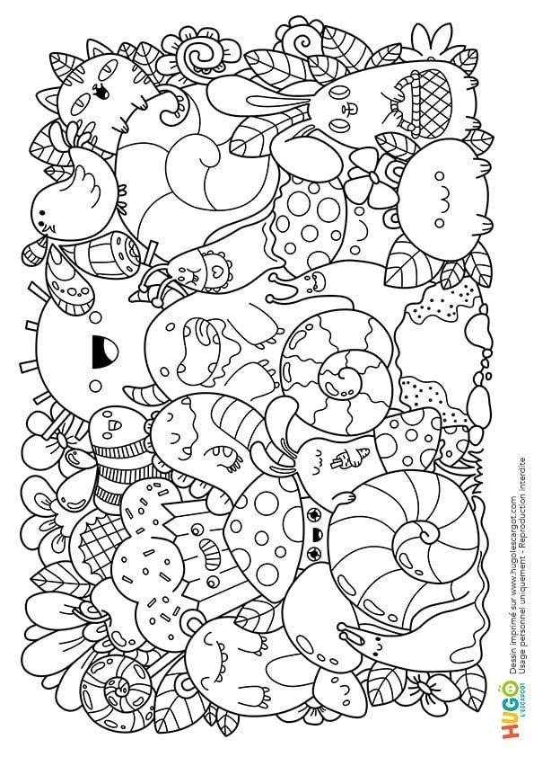 Coloriage Personnages Et Animaux Kawaii En Ligne Gratuit À destiné Coloriage Kawaii A Imprimer