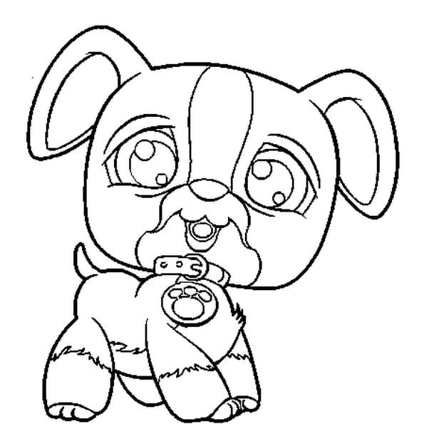 Coloriage Pet Shop Chien En Ligne Gratuit À Imprimer intérieur Coloriage Chien À Imprimer Gratuit