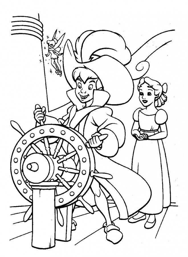 Coloriage Peter Pan Conduit Le Bateau Pirate Dessin concernant Coloriage Pirate