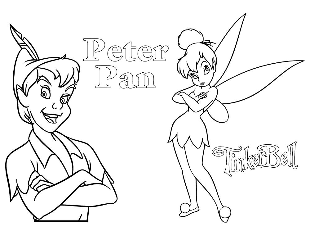 Coloriage Peter Pan Et Fée Clochette - Artherapie.ca tout Coloriage Fee Clochette