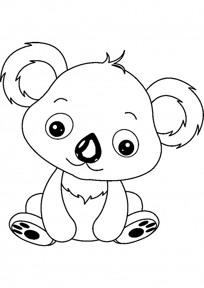 Coloriage Petit Koala En Ligne Dessin Gratuit À Imprimer encequiconcerne Des Dessins A Imprimer