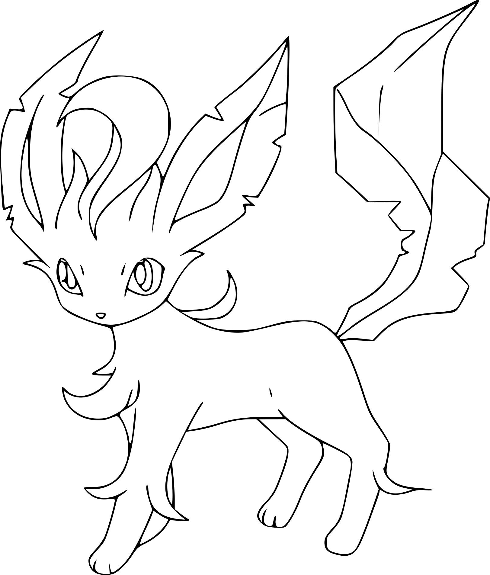 Coloriage Phyllali Pokemon À Imprimer encequiconcerne Coloriage De Pokemon A Imprimer