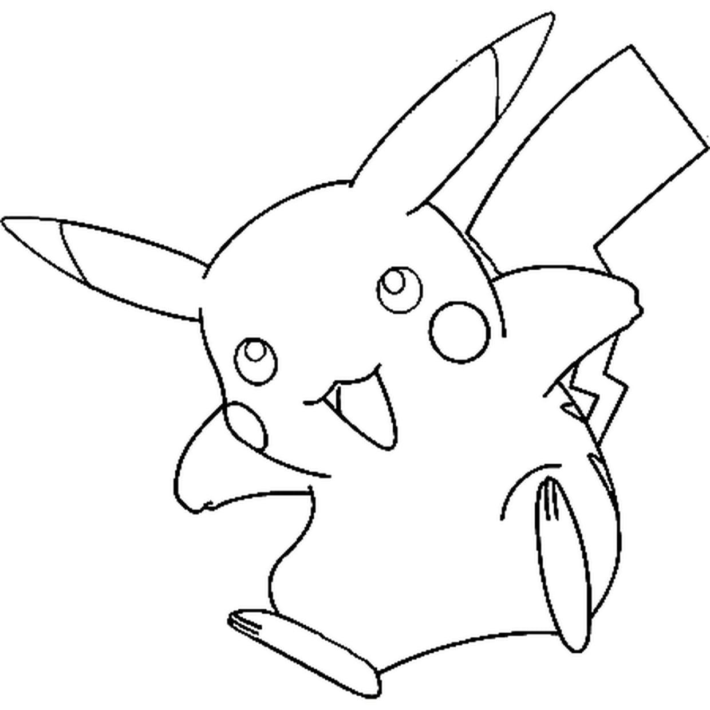 Coloriage Pikachu A Imprimer Gratuit encequiconcerne Coloriage Pikachu