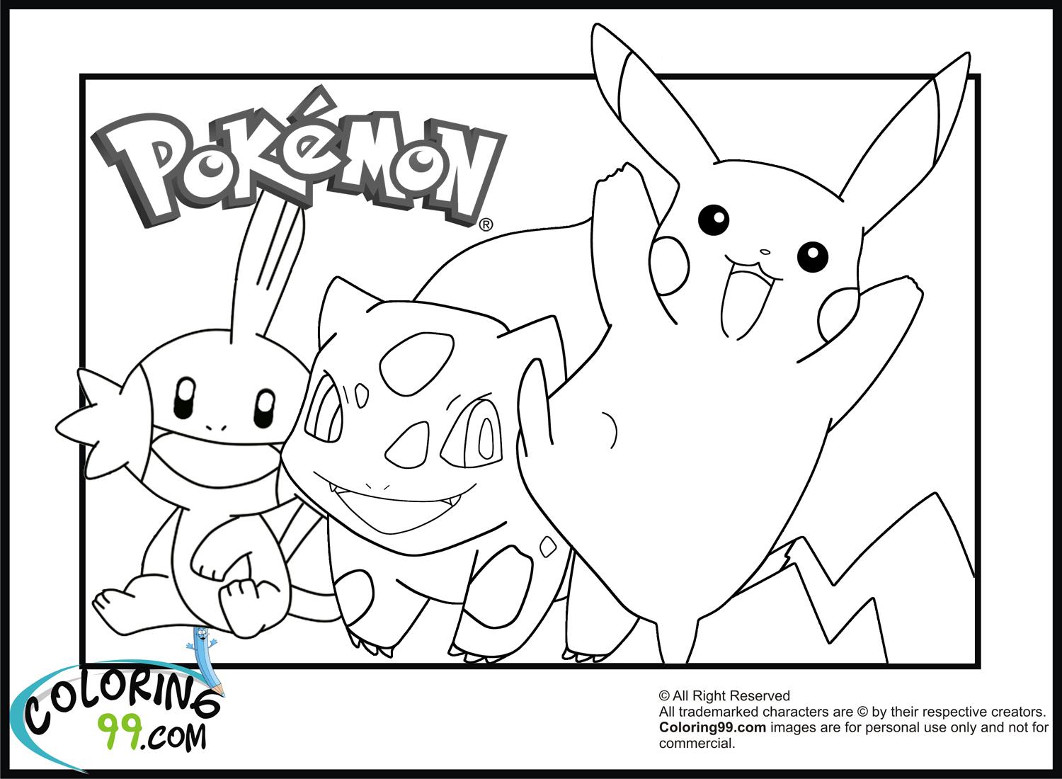 Coloriage Pikachu dedans Coloriage A Imprimer Pokemon Pikachu