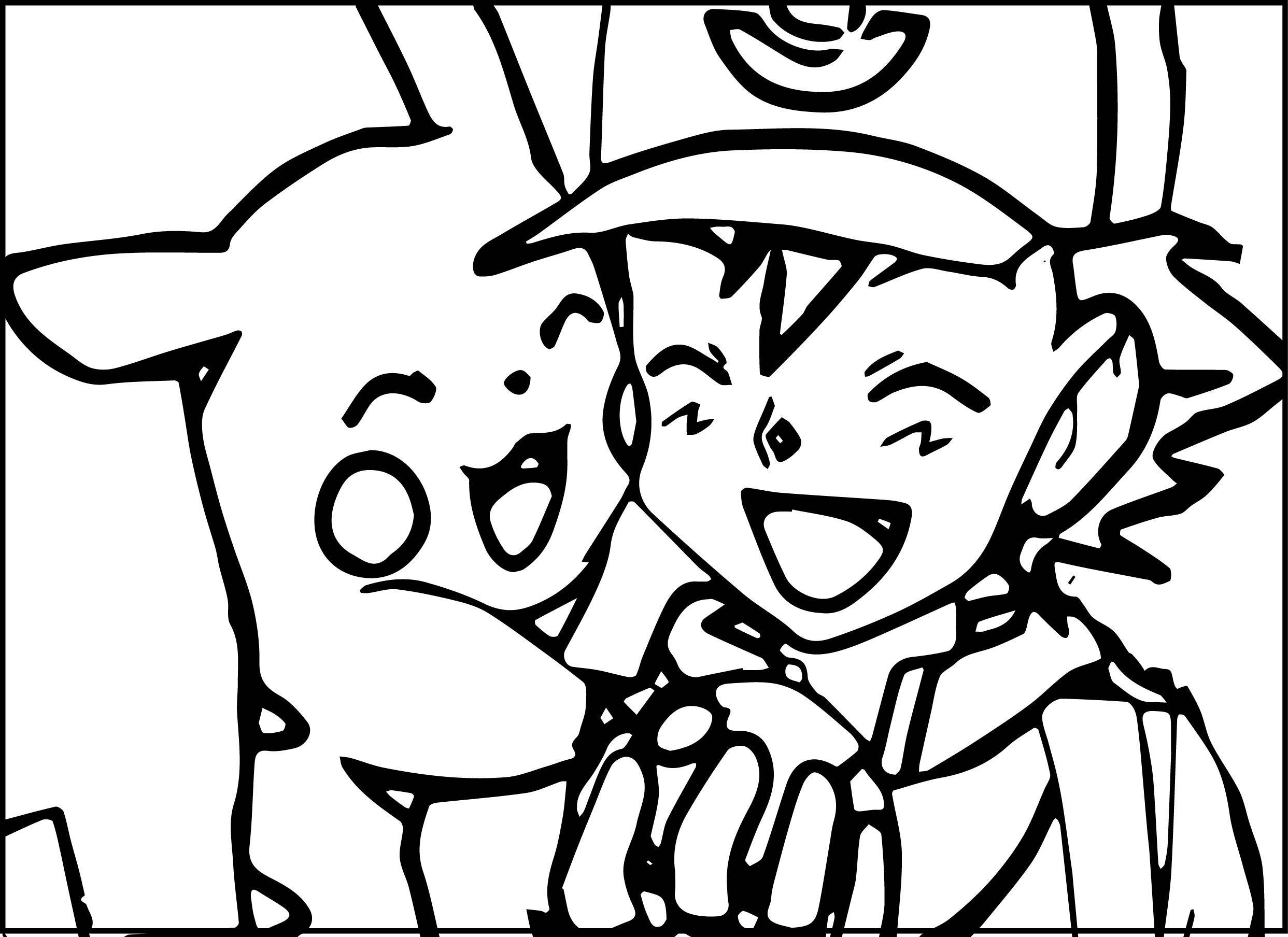 Coloriage Pikachu Et Sacha À Imprimer Sur Coloriages avec Coloriage A Imprimer Pokemon Pikachu