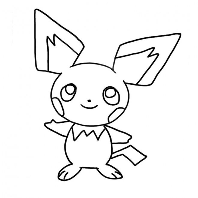 Coloriage Pikachu Pour Enfant Dessin Gratuit À Imprimer avec Coloriage A Imprimer Pokemon Pikachu