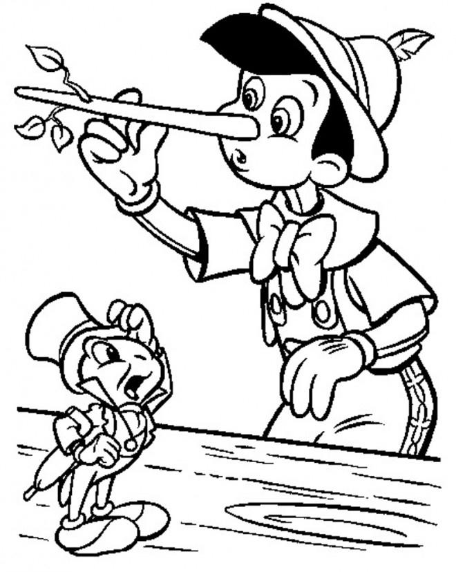 Coloriage Pinocchio Touche Son Nez Dessin Gratuit À Imprimer tout Coloriage Pinocchio A Imprimer Gratuit
