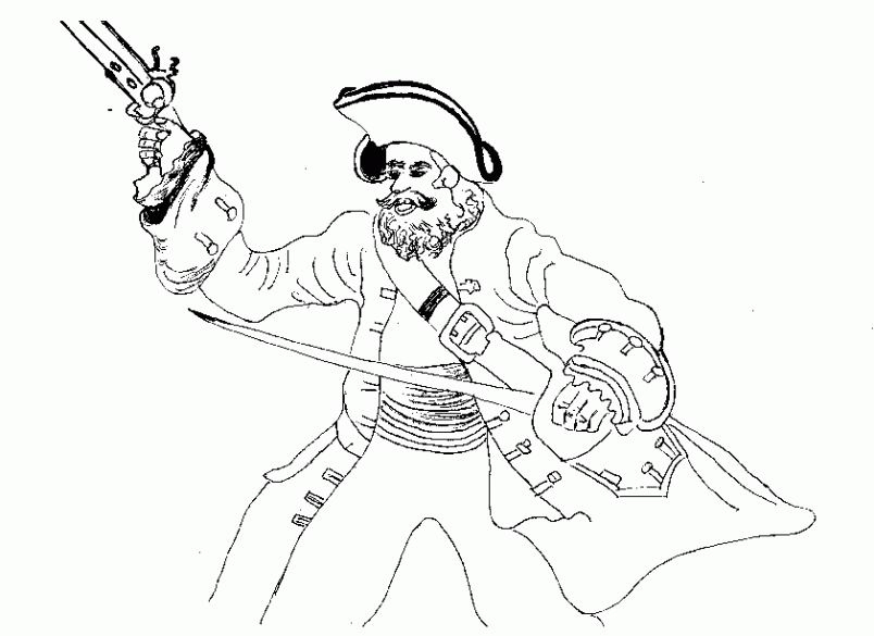 Coloriage Pirate À Imprimer dedans Dessin De Pirate À Imprimer