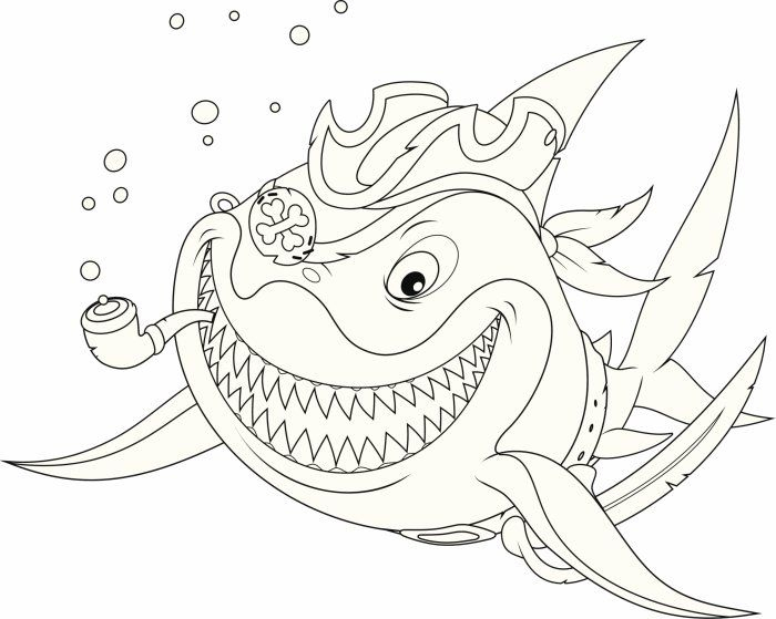 Coloriage Pirate : Mr Requin Sourit De Toutes Ses Dents serapportantà Coloriage Requin
