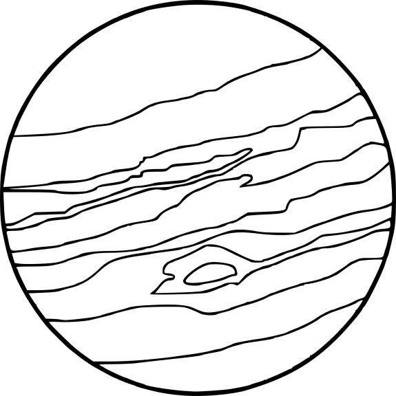 Coloriage Planete Jupiter À Imprimer destiné Dessin Uranus