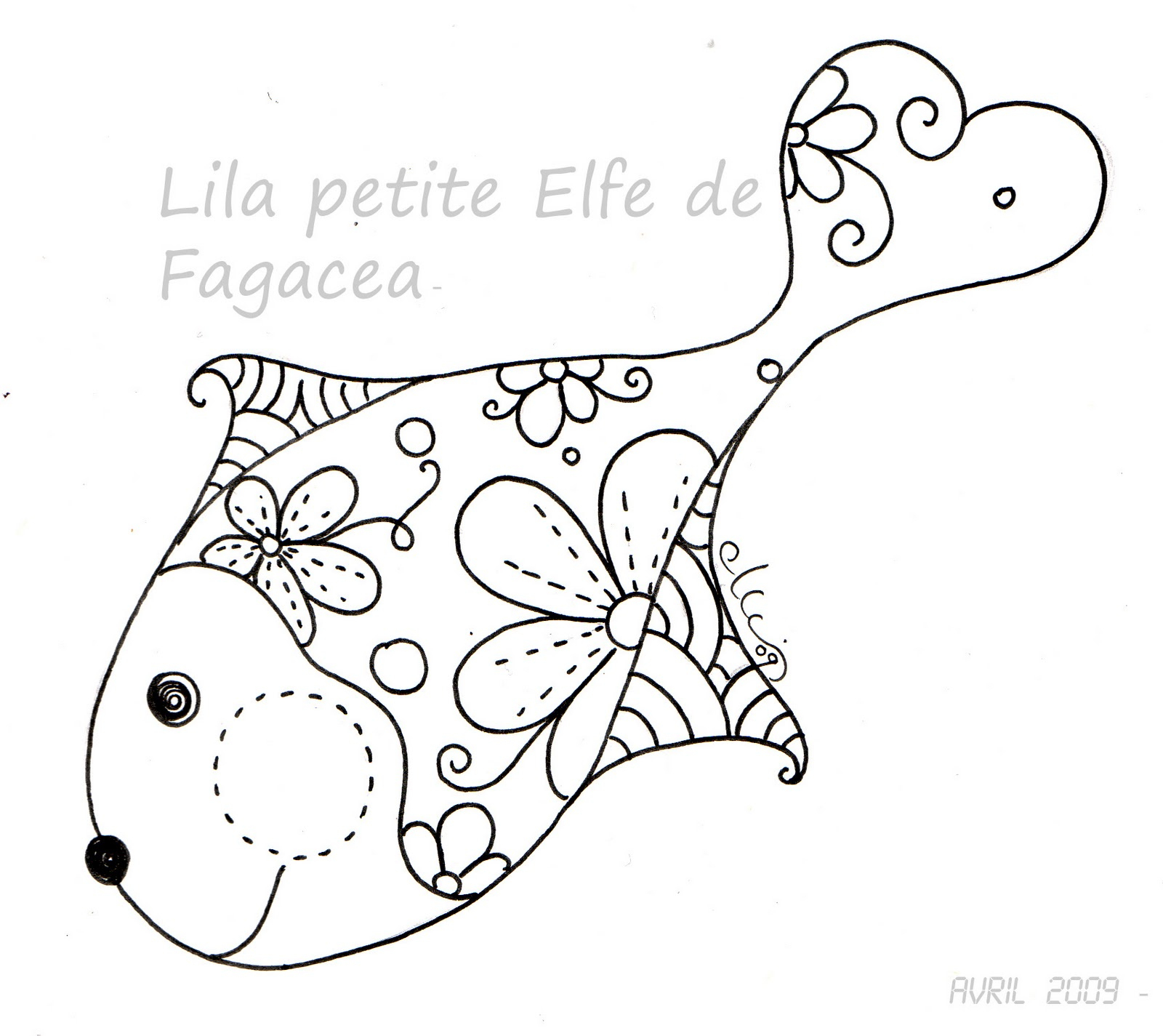 Coloriage Poisson D'Avril Deja Colorier serapportantà Poisson D Avril Coloriage A Imprimer