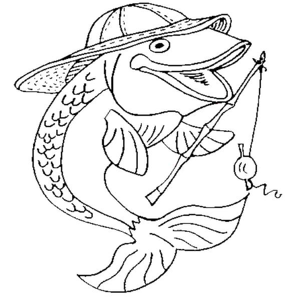 Coloriage Poisson Pêcheur En Ligne Gratuit À Imprimer destiné Image Poisson A Colorier