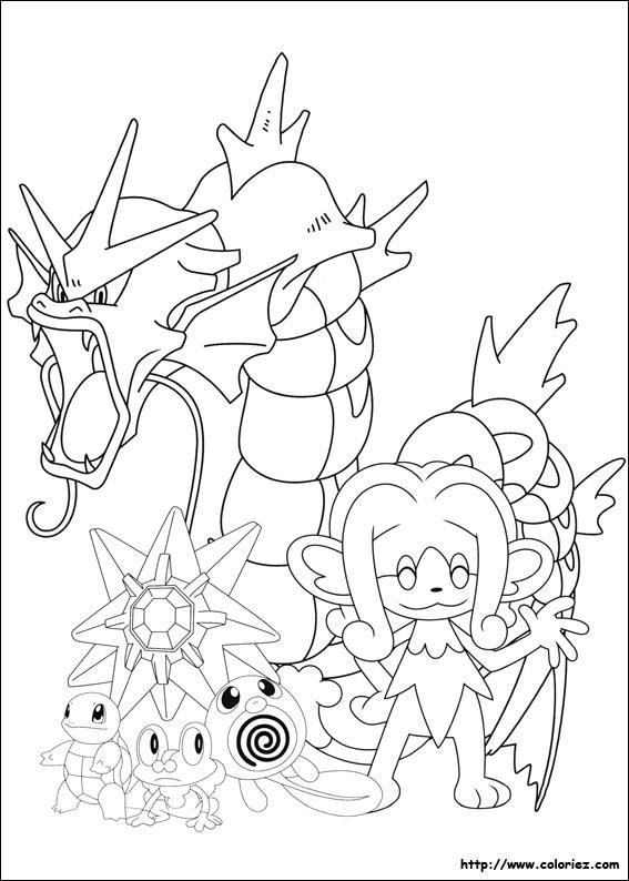 Coloriage - Pokemon De Type Eau serapportantà Coloriage À Imprimer Pokemon Xy
