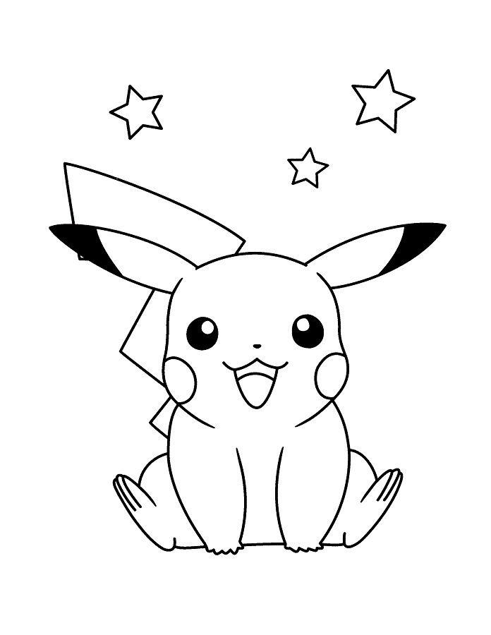 Coloriage Pokemon Dessin Pikachu Sacha #Dessina En 2020 avec Coloriage A Imprimer Pokemon Pikachu