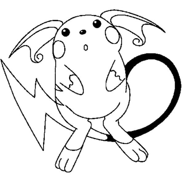 Coloriage Pokémon Raichu En Ligne Gratuit À Imprimer intérieur Dessin Pokemon Gratuit A Imprimer