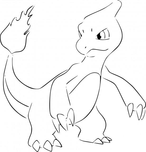 Coloriage Pokemon Reptincel À Imprimer avec Coloriage Pokemon Salameche Imprimer