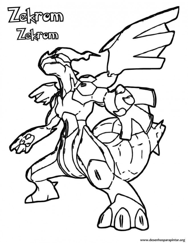 Coloriage Pokémon Zekrom Stylisé Dessin Gratuit À Imprimer serapportantà Dessin Pokemon Reshiram