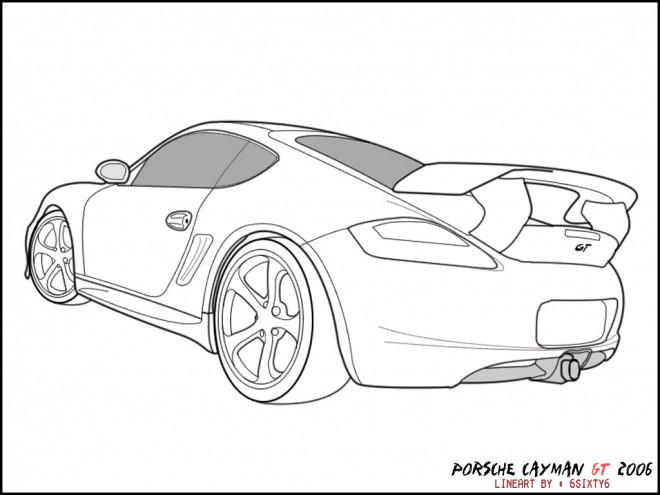 Coloriage Porsche Gt Dessin Gratuit À Imprimer à Coloriage Porsche A Imprimer