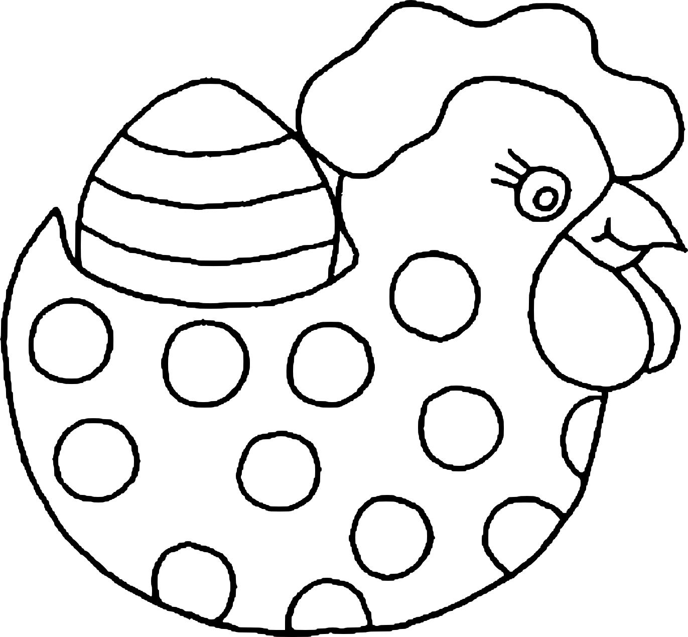 Coloriage Poule De Pâques À Imprimer à Coloriage Paques Gratuit A Imprimer
